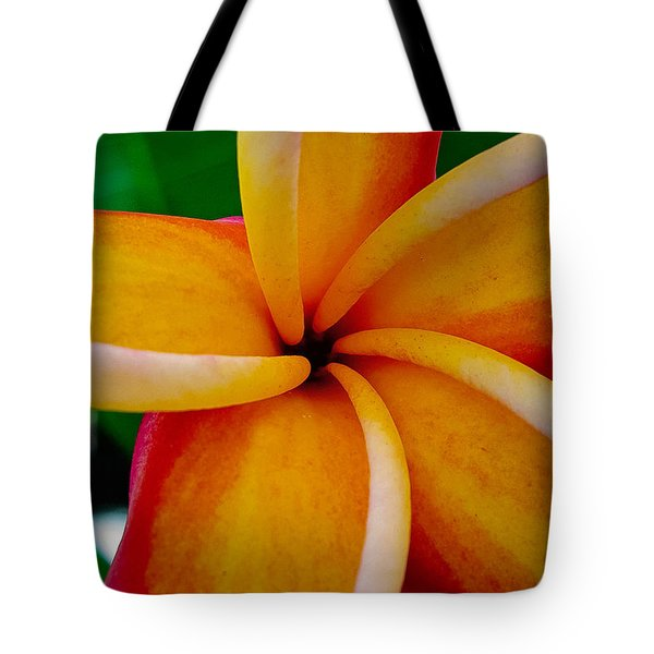 Tote Bag featuring the photograph Rainbow Plumeria by TK Goforth