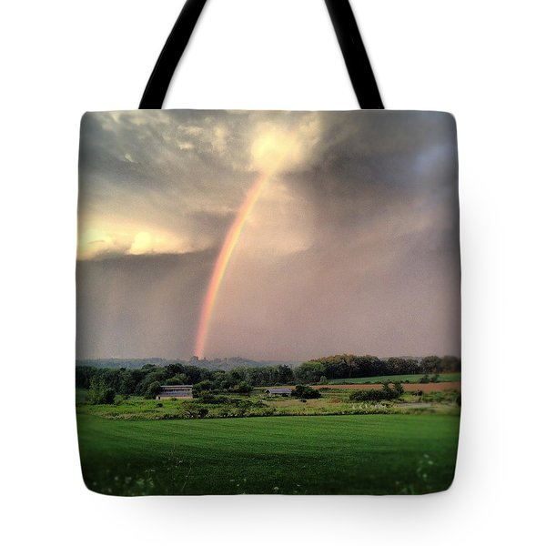 Rainbow Poured Down Tote Bag