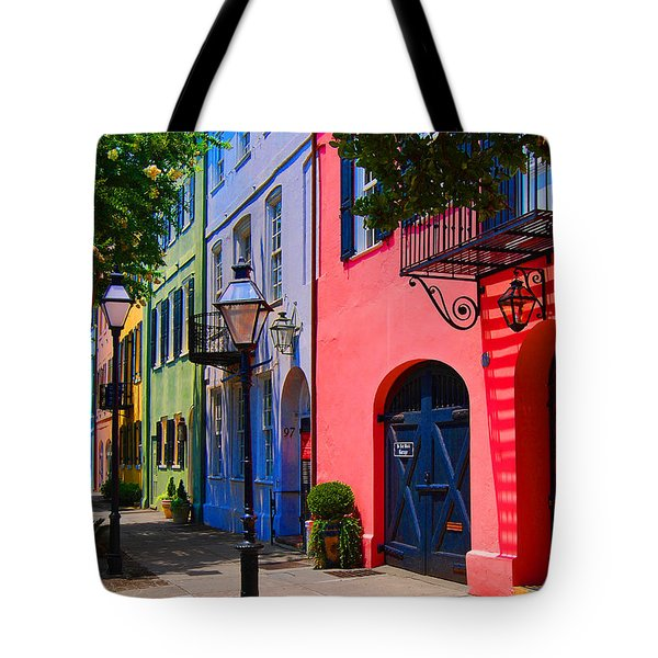 Rainbow Row Charleston Tote Bag