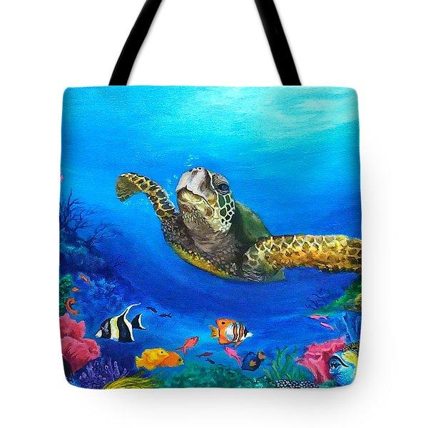 Rainbow Reef Tote Bag