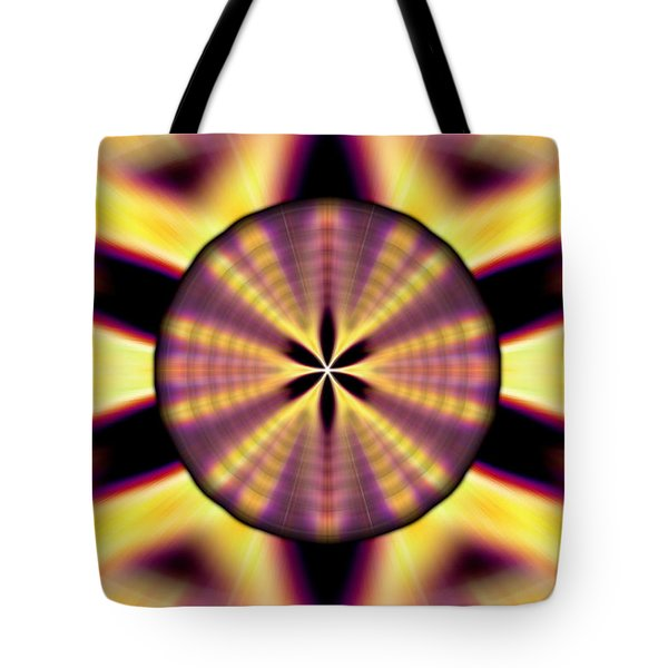 Tote Bag featuring the drawing Rainbow Seed Of Life by Derek Gedney