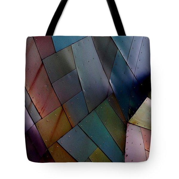 Rainbow Shingles Tote Bag by Holly Blunkall