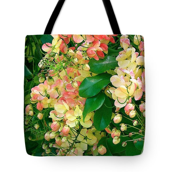 Rainbow Shower Tree Tote Bag by James Temple