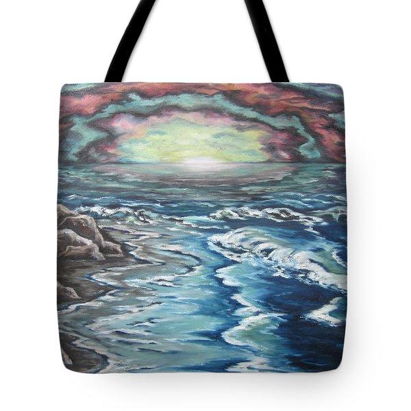 Rainbow Skies Tote Bag by Cheryl Pettigrew