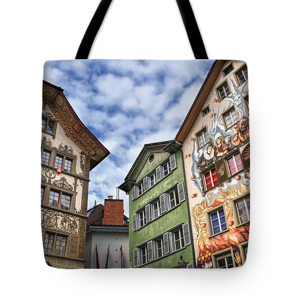 Rainbow Corner  Lucerne Tote Bag by Carol Japp
