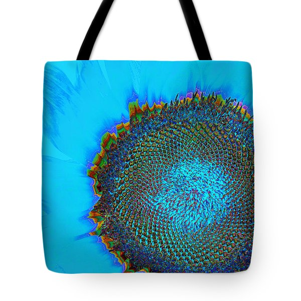 Rainbow Sunflower Tote Bag by Phyllis Denton