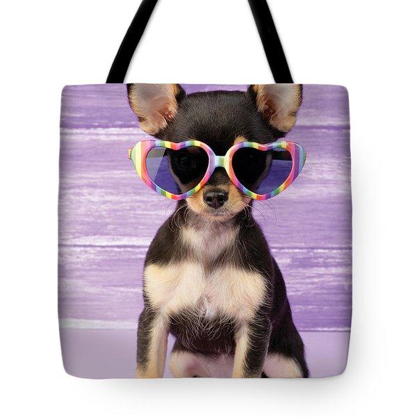 Rainbow Sunglasses Tote Bag by Greg Cuddiford