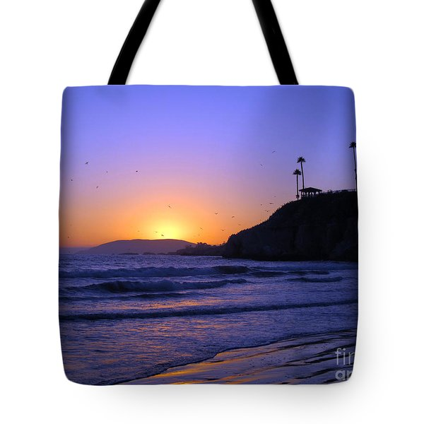 Rainbow Sunset Tote Bag by Debra Thompson