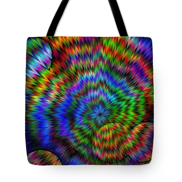 Rainbow Super Nova Tote Bag