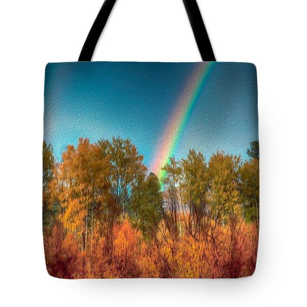 Rainbow Surprise Tote Bag by Omaste Witkowski