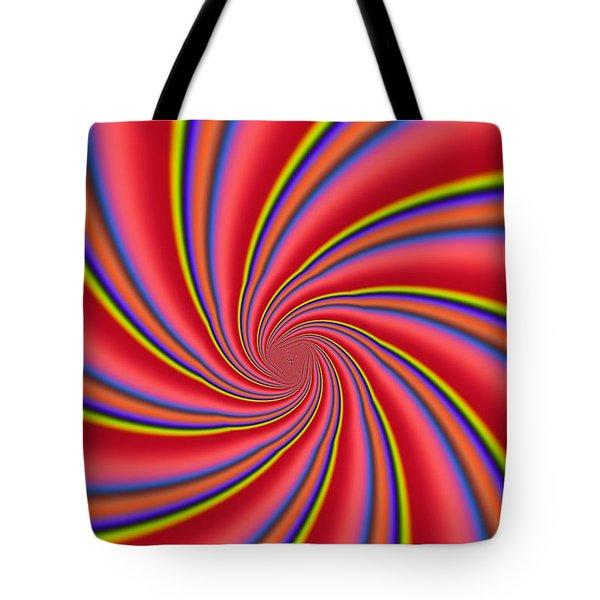 Rainbow Swirls Tote Bag by Paul Sale Vern Hoffman