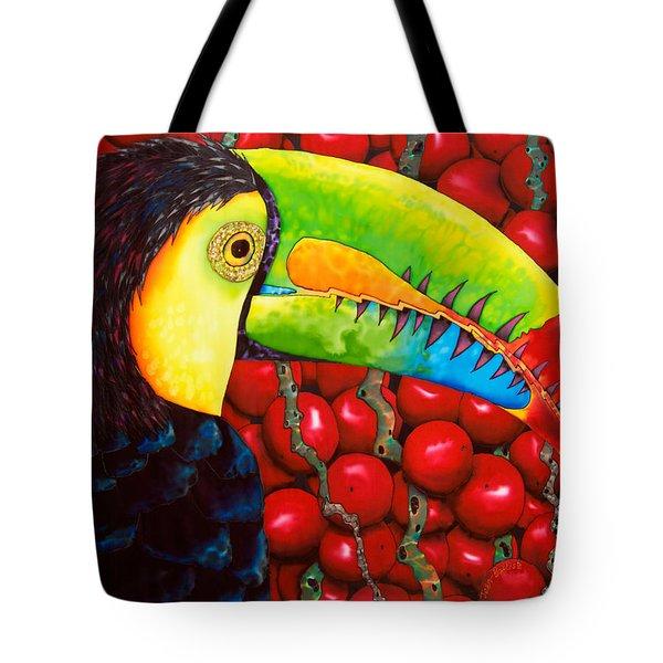Rainbow Toucan Tote Bag by Daniel Jean-Baptiste