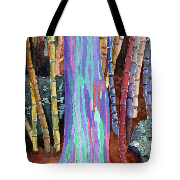 Rainbow Tree Tote Bag