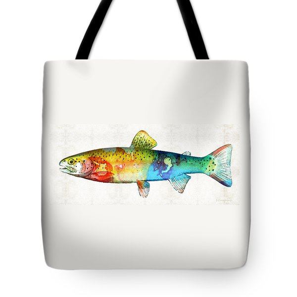 Rainbow Trout Art By Sharon Cummings Tote Bag by Sharon Cummings