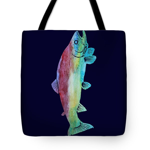 Rainbow Trout Tote Bag by Jenny Armitage