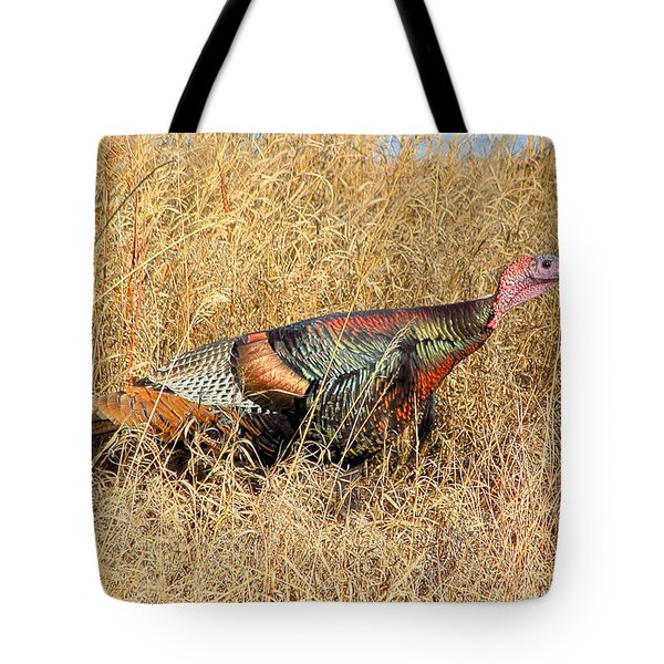 Rainbow Turkey Tote Bag