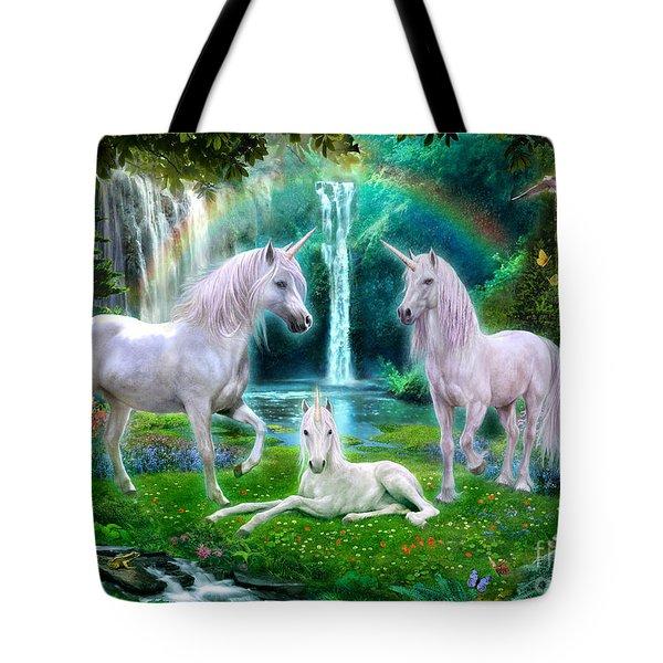 Rainbow Unicorn Family Tote Bag by Jan Patrik Krasny