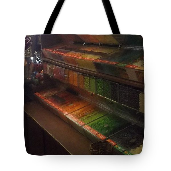 Rainbow Vintage Jelly Bean Shop Tote Bag