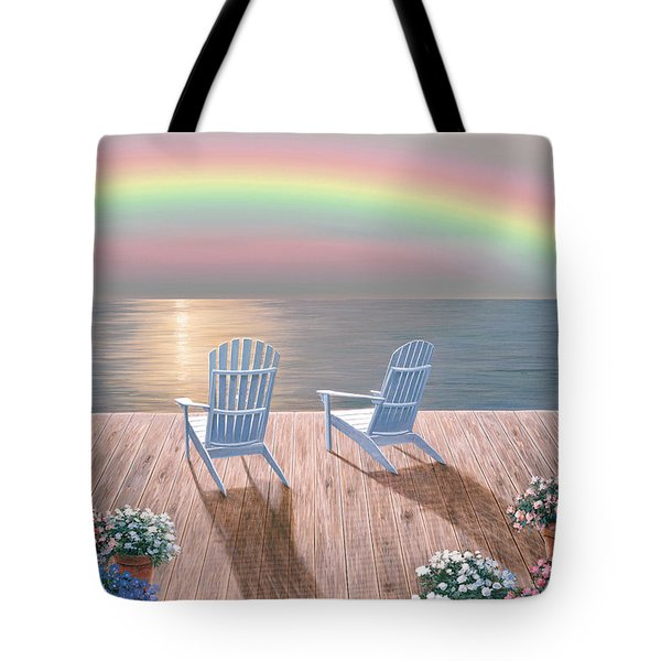 Rainbow Wishes Tote Bag