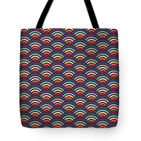 Rainbowaves Pattern Dark Tote Bag