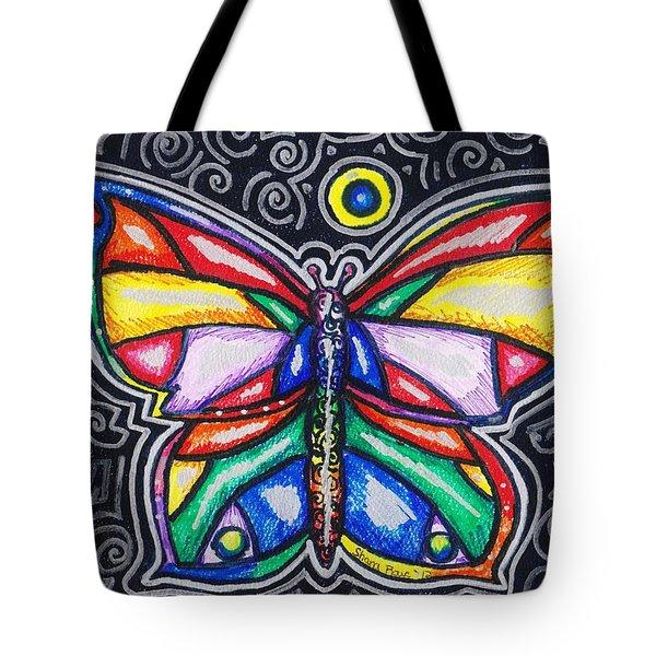 Rainbows And Butterflies Tote Bag by Shana Rowe Jackson