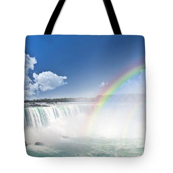 Rainbows At Niagara Falls Tote Bag