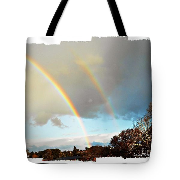 Tote Bag featuring the photograph Rainbows by Leanne Seymour
