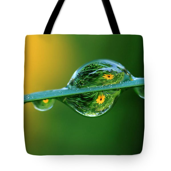 Raindrop Flowers Tote Bag