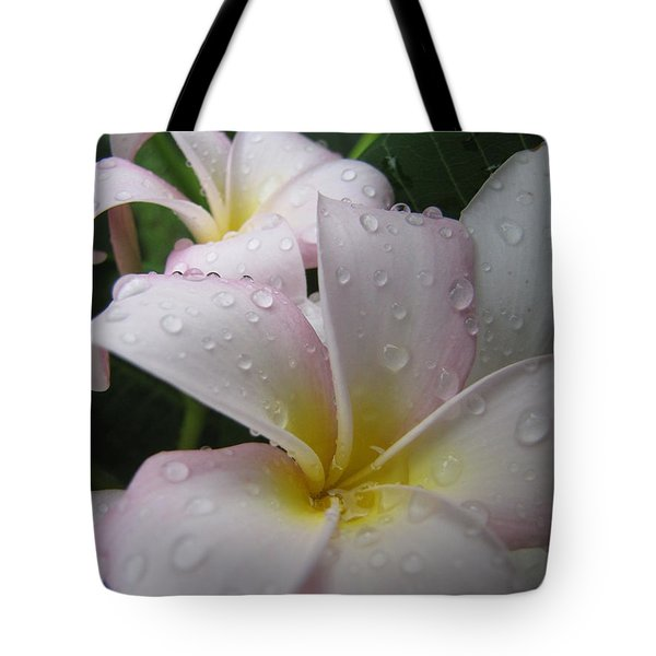 Tote Bag featuring the photograph Raindrops by Beth Vincent