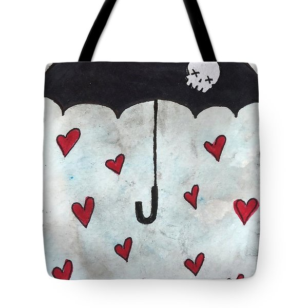 Raindrops Of Love Tote Bag by Oddball Art Co by Lizzy Love