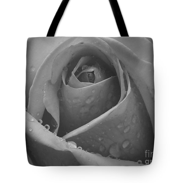 Tote Bag featuring the photograph Raindrops On Rose by Inge Riis McDonald