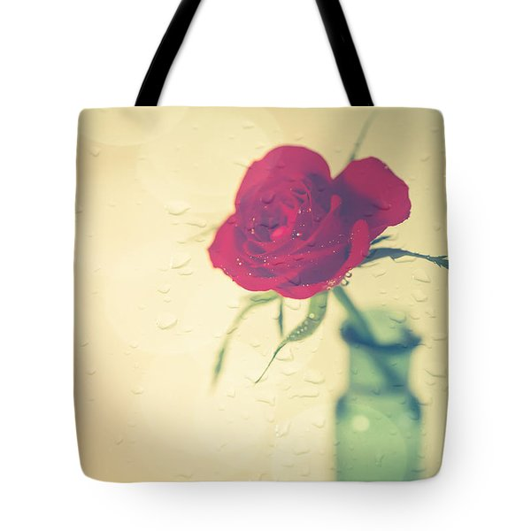 Raindrops On Roses . . . Tote Bag by Jan Bickerton