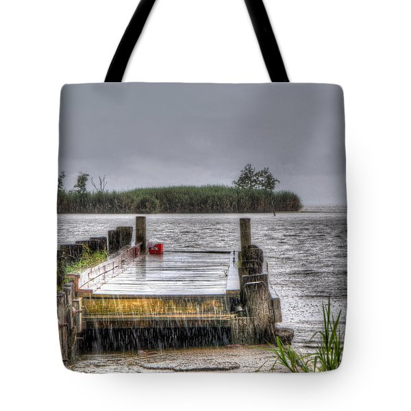 Tote Bag featuring the photograph Rained Out by Charlotte Schafer