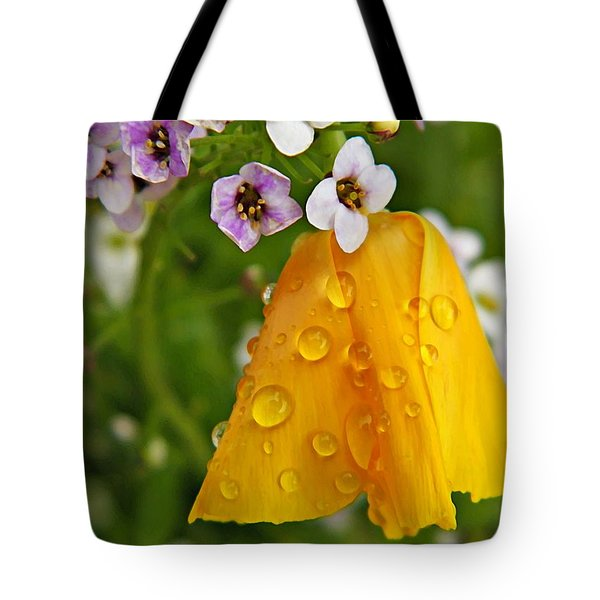 Rained Upon Tote Bag by Chris Berry