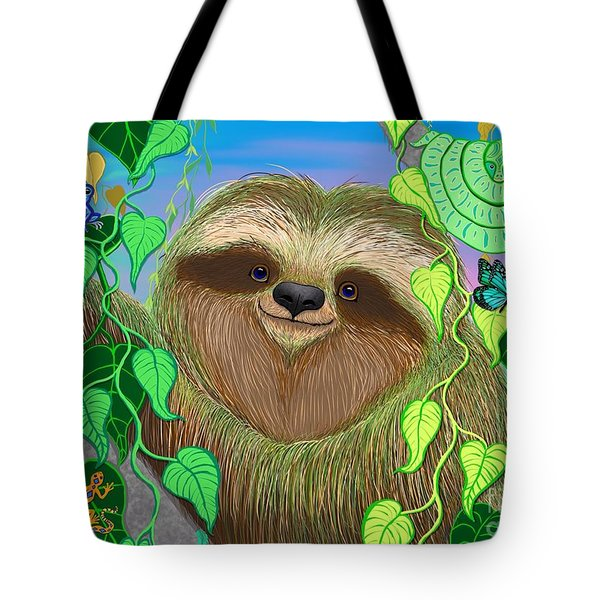 Rainforest Sloth Tote Bag