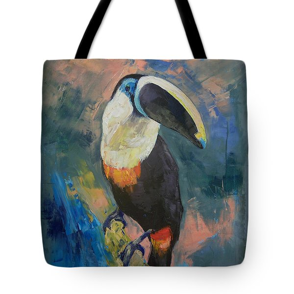 Rainforest Toucan Tote Bag by Michael Creese