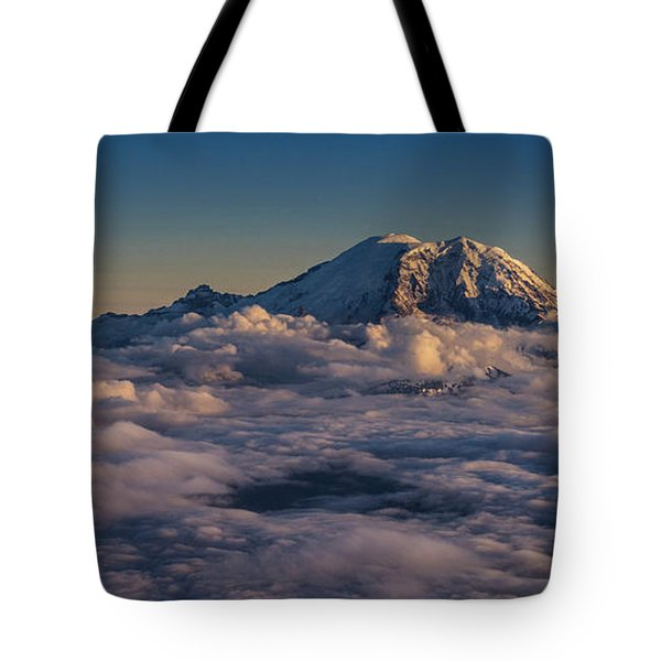 Rainier Hood Adams And St Helens From The Air Tote Bag