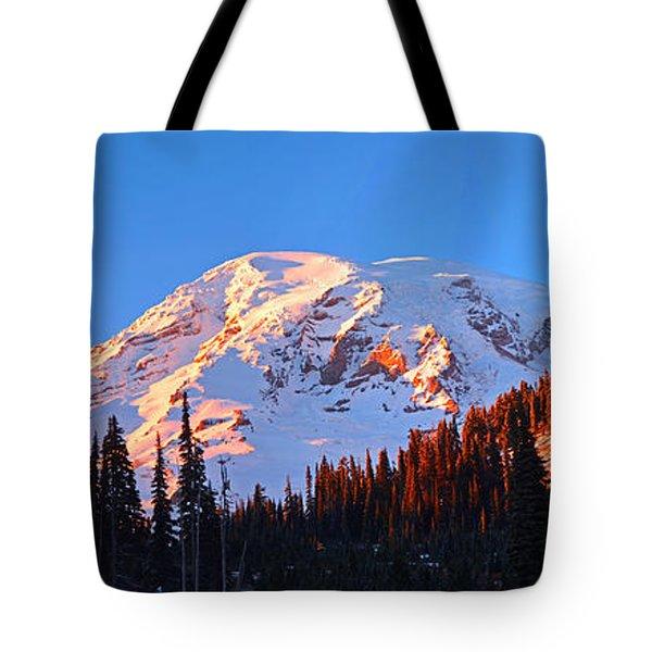 Rainier Sunset Tote Bag