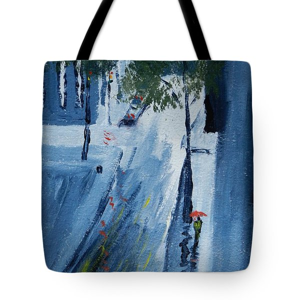 Raining Again Tote Bag by Pamela  Meredith