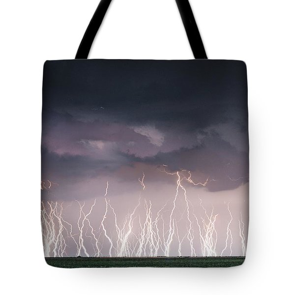 Raining Electricity Tote Bag