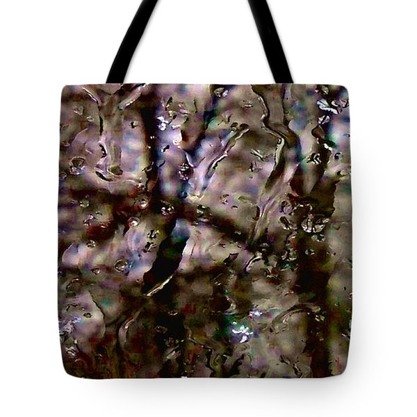 Tote Bag featuring the photograph Rainscape - Rain On The Window Series 3 Abstract Photo by Marianne Dow