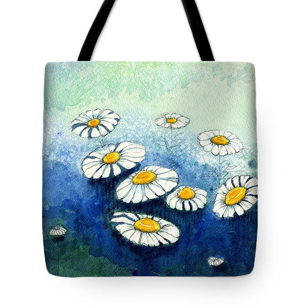Rainy Daisies Tote Bag