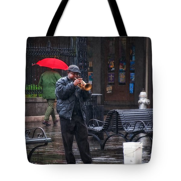 Rainy Day Blues New Orleans Tote Bag by Kathleen K Parker