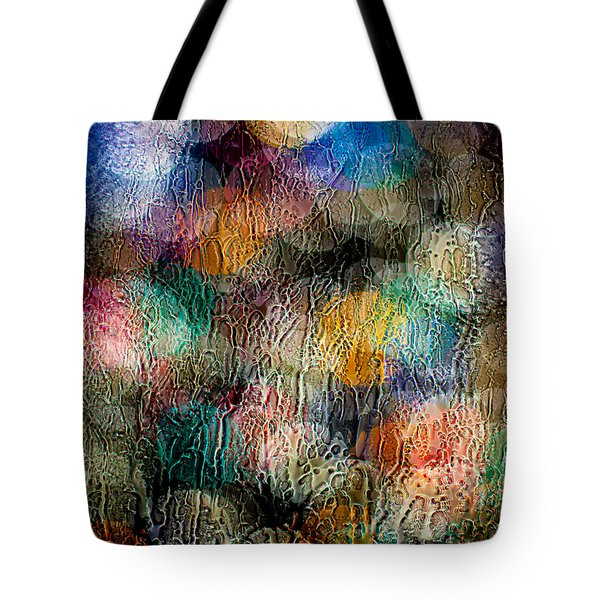 Tote Bag featuring the photograph Rainy Day Christmas by Aaron Aldrich