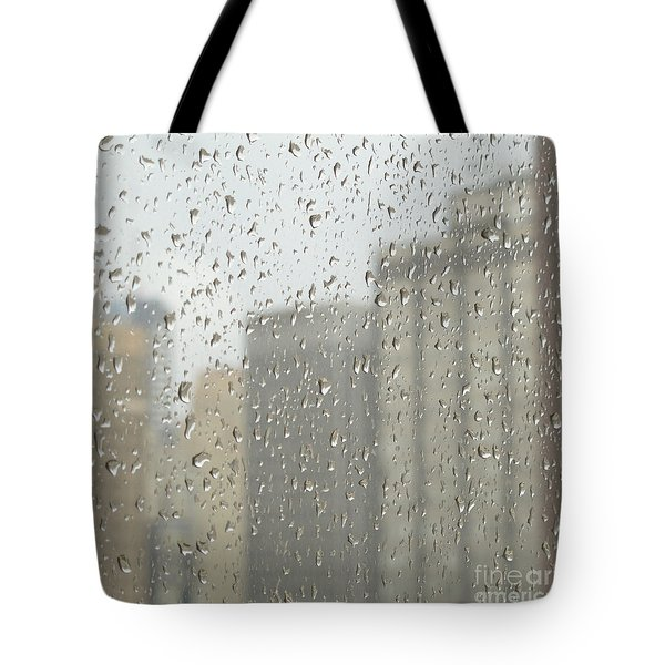 Rainy Day City Tote Bag by Ann Horn