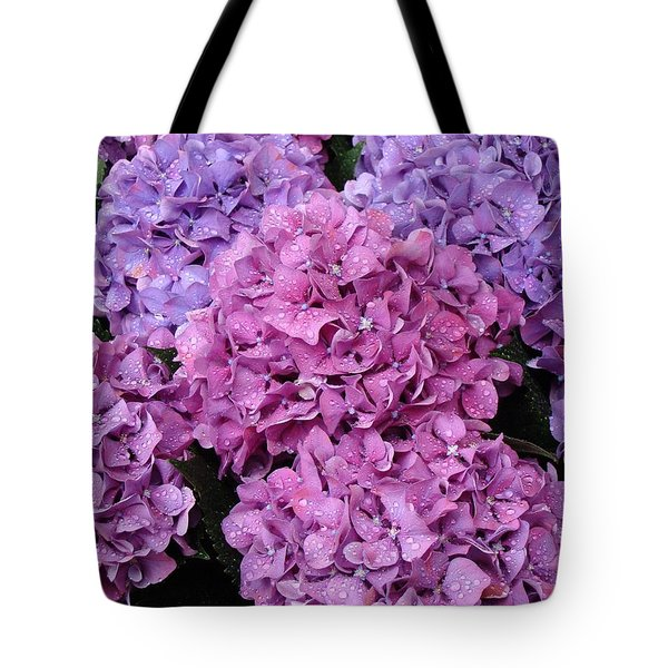 Tote Bag featuring the photograph Rainy Day Flowers by Ira Shander