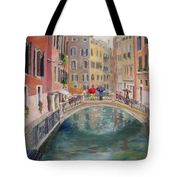 Rainy Day In Venice Tote Bag