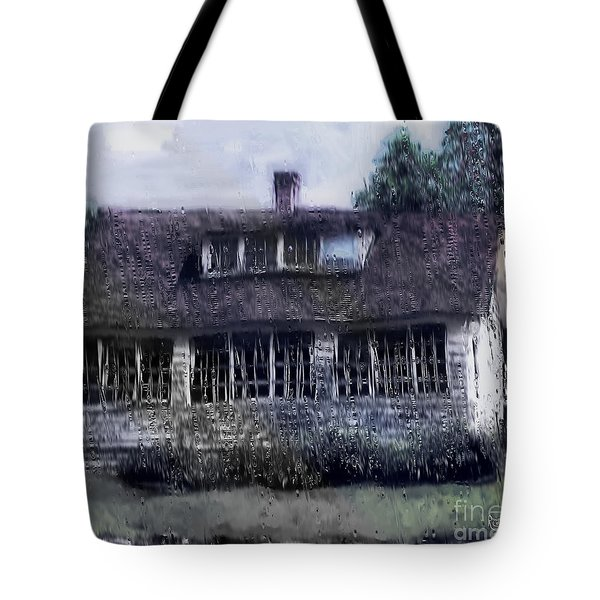 Rainy Day Long Ago House Tote Bag by RC deWinter