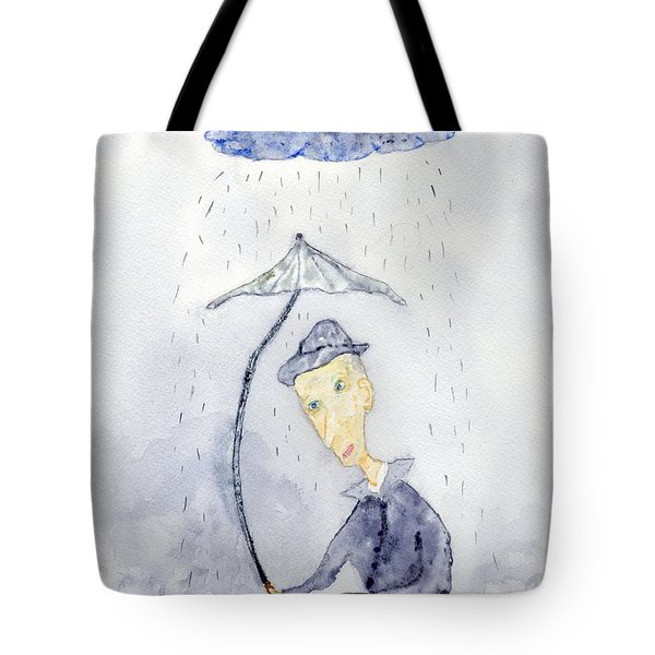 Rainy Day Man Tote Bag