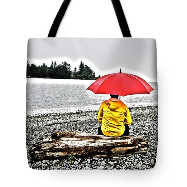 Rainy Day Meditation Tote Bag